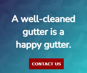 A well-cleaned gutter is a happy gutter.