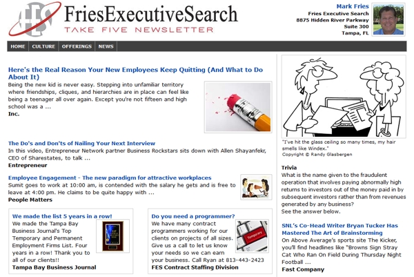 Email Newsletters For Employment Agencies