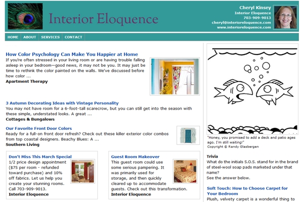 Email Newsletters For Interior Designers and Decorators